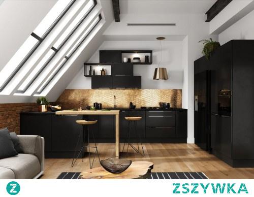 Meble kuchenne GOYA - kuchnia pod wymiar - CZARNY MAT