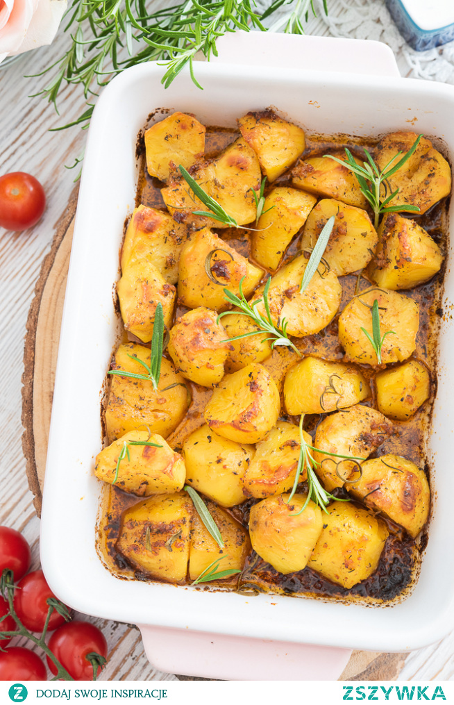 Pieczone ziemniaki z rozmarynem