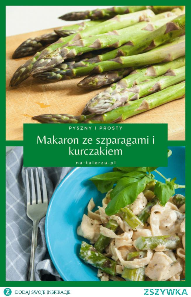 Idealny obiad dla dwojga - makaron ze szparagami i kurczakiem