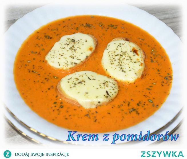 Krem pomidorowy z bazylią i mascarpone