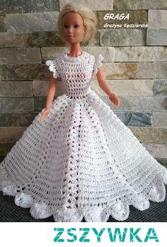 Ubranka dla Barbie. kreacje szydełkowe