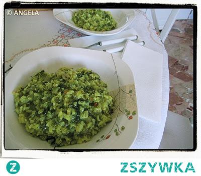 Risotto z dziko rosnącym koprem włoskim - Wild Fennel Risotto Recipe - Risotto al finocchio selvatico