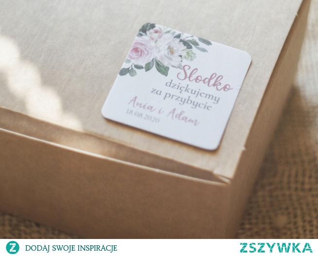 personalizowane naklejki etykiety na ciasto weselne :)