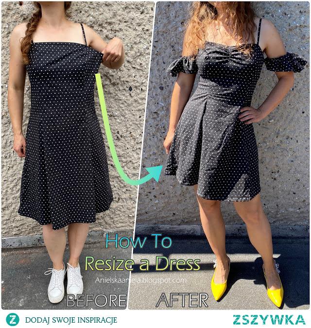 jak zmniejszyć i przerobić sukienkę diy
