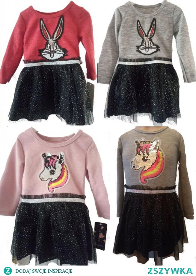sukienka od 1 do 4 lat  Jesienna