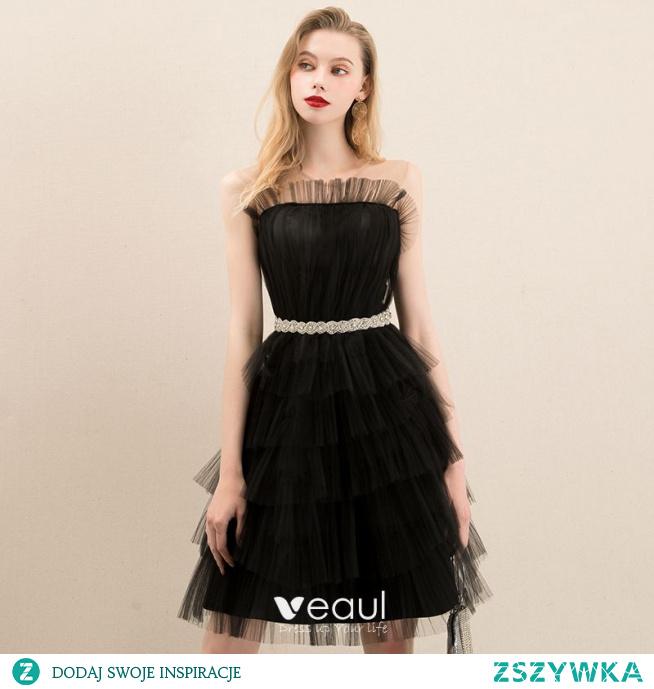 Piękne Czarne Homecoming Sukienki Na Studniówke 2020