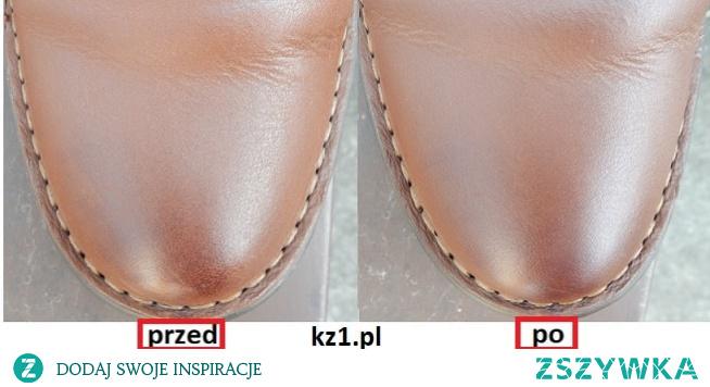 Pielęgnacja butów ze skóry licowej.