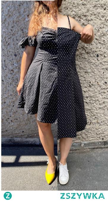 sukienka w kropki - groszki