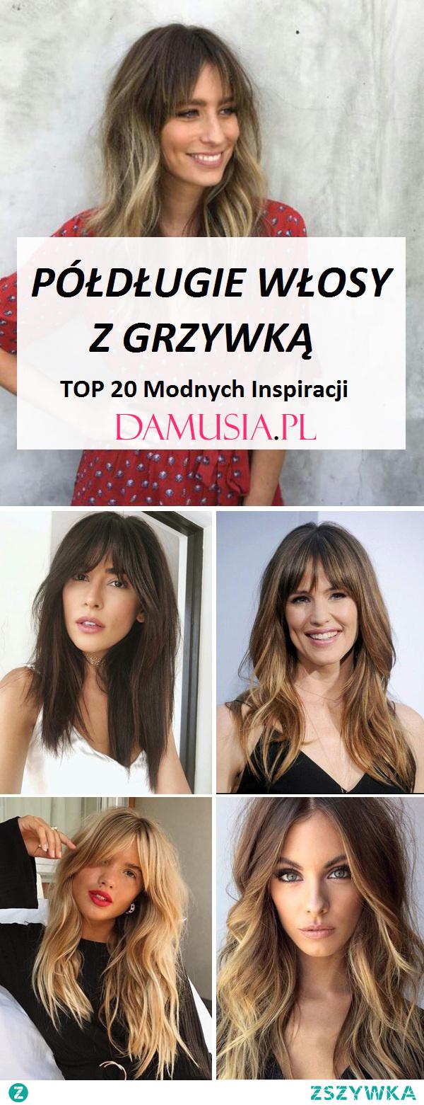 Półdługie Włosy z Grzywką: TOP 20 Ciekawych Inspiracji na Modne Fryzury