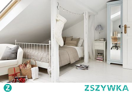 sypialnia na strychu