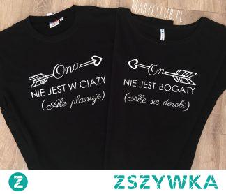 Koszulki dla par, wiele wzorów do wyboru, więcej zestawów -> kliknij w zdjęcie.