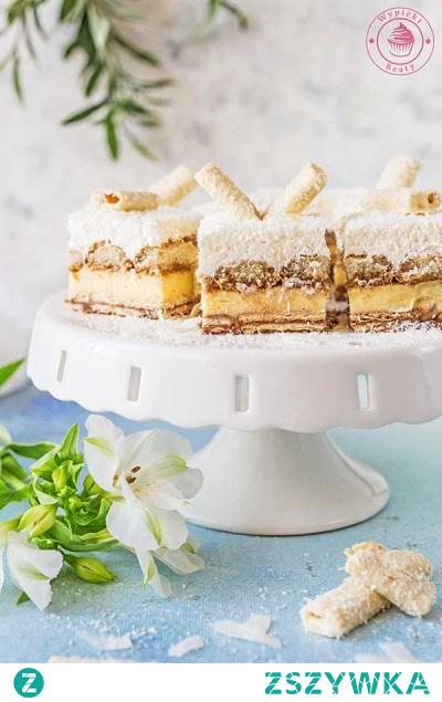Kokosowa kostka bez pieczenia - Najlepsze przepisy | Blog kulinarny - Wypieki Beaty