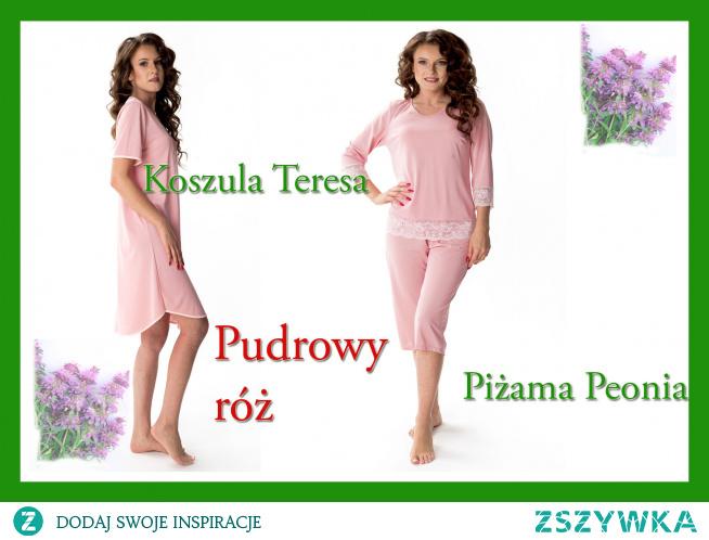 Bielizna nocna z jedwabiu wiskozowego w kolorze pudrowego różu poleca Pradlo