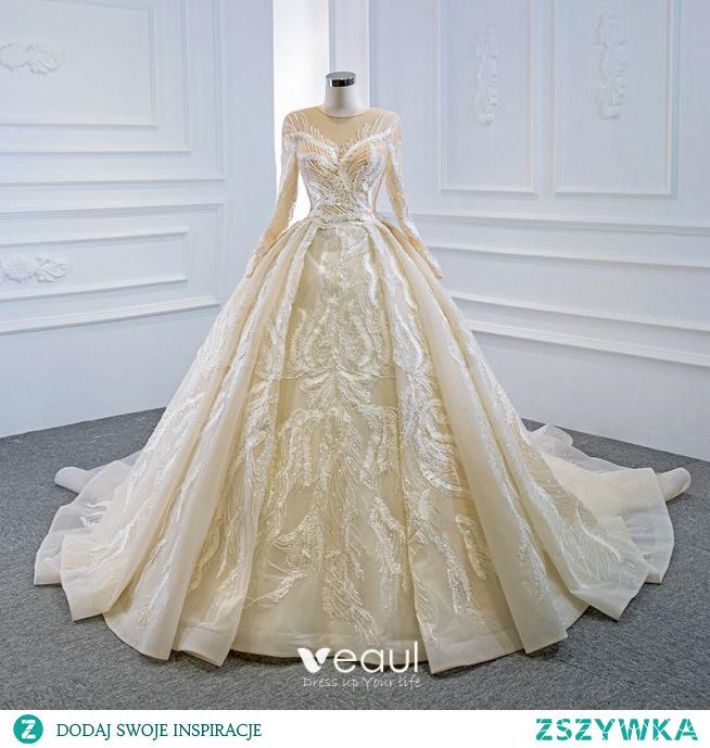 Luksusowe Szampan ślubna Suknie Ślubne 2020 #SuknieŚlubne #SuknieŚlubne2020