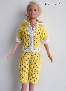 Szydełkowa piżamka dla Barbie - Maj 2020r.