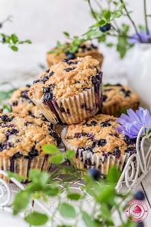 Wegańskie muffinki z jagoda...