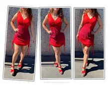 sukienka z sznurkami diy
