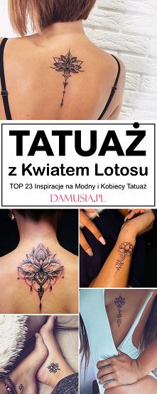 Tatuaż z Kwiatem Lotosu – T...