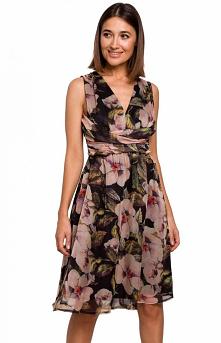 Style Letnia sukienka w kwi...