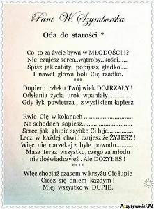 #wiersze #starosc