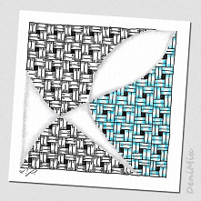 Prosty przykład Zentangle z...