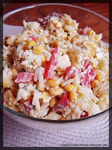 Szybka sałatka ryżowa