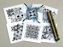 Wzór Zentangle Cadent na wiele możliwości, więcej na blogu.