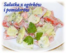 Sałatka z ogórków i pomidorów