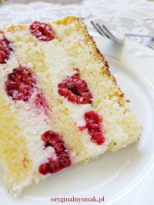 #tort malinami #domowy tort