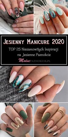 Jesienny Manicure 2020 – TOP 25 Niesamowitych Inspiracji na Jesienne Paznokcie
