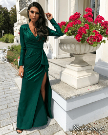 Maxi sukienka butelkowa zie...