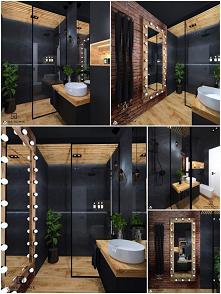 #łazienka #czerń