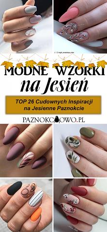 Najmodniejszy Manicure na Jesień – TOP 26 Cudownych Inspiracji na Jesienne Wzorki na Paznokcie
