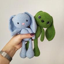 małe króliczki przytulanki  IG: my.bunny_handmade #krolik #zabawka #dziecko #mama #dladzieci #maluch #prezent #handmade #maskotka #przytulanka #ozdoba