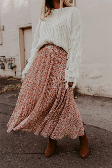 #spódnica#sweter#outfit