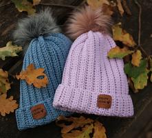wełniane czapki na zimę :) ...