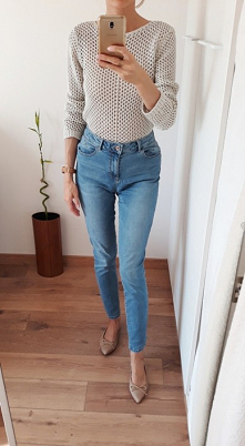Jeansy skinny z wysokim sta...