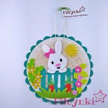 Pomysł na prezent: dekoracyjna zawieszka z filcu. Średnica 10,5 cm.