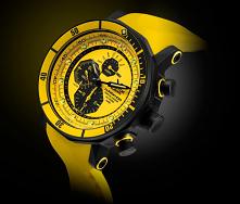 zegarek do pływania zółty