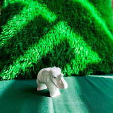 #słoń #poduszka #zielone #światłocień