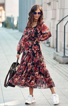 Roco Elegancka sukienka mid...