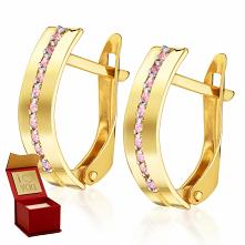 Złote kolczyki z cyrkoniami...