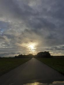 #droga#dom#wschód  słońca#