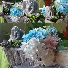#stroik #na #cmentarz #kwiaty #sztuczne #żywy #mech /// wykonałam stroik na cmentarz dla moich dziadków ,połowa jest wykonana na gąbce florystycznej do kwiatów sztucznych i poło...