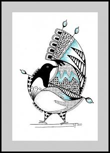 Ptaki dziwaki rysunek