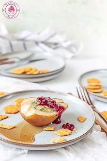 Gruszki z serem i borówką -...