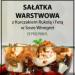 Warstwowa Sałatka z Kurczakiem Rukolą i Fetą w Sosie Winegret #a#b