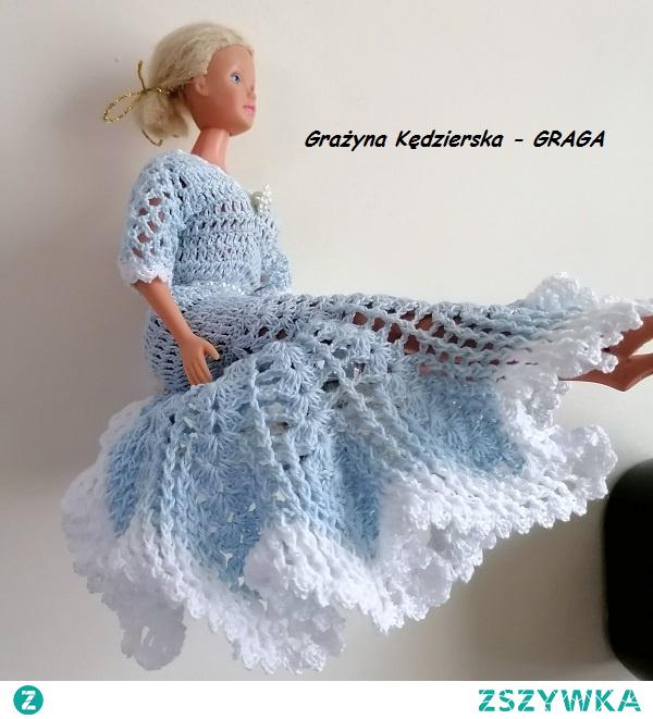 Piękna sukienka dla Barbie - Maj 2020r.