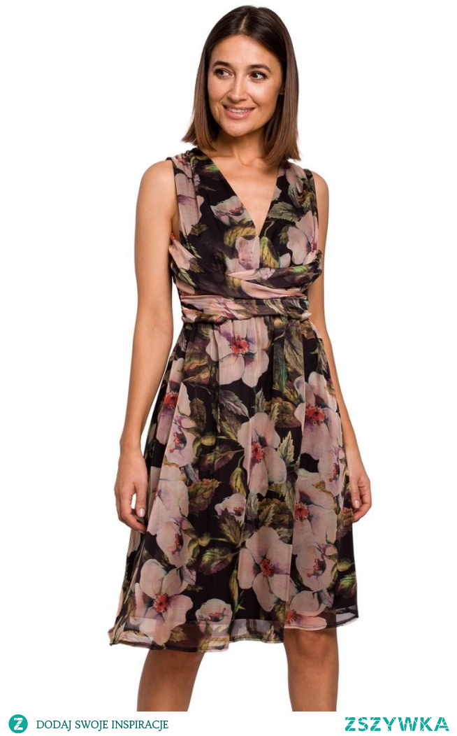 Style Letnia sukienka w kwiaty S225/3