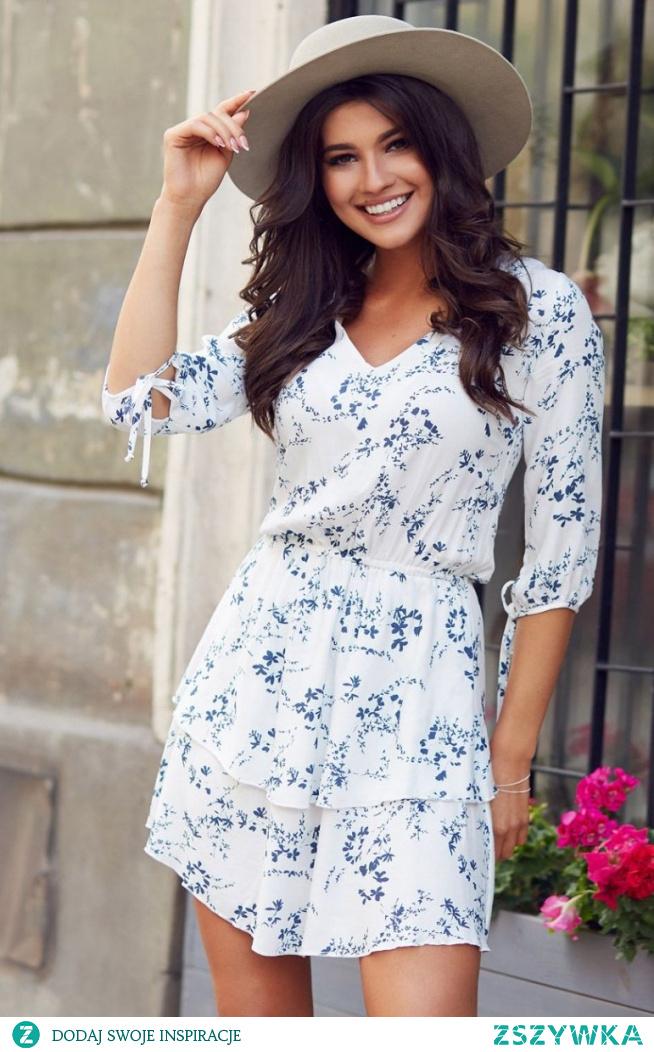 IVON Mini sukienka w kwiaty Sara